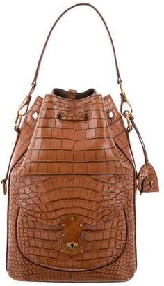 Ralph Lauren Alligator Drawstring Ricky Bag