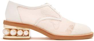 Nicholas Kirkwood Casati pearl-heeled lace derby shoes