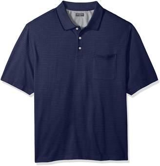 Van Heusen Men's Size Big Jacquard Short Sleeve Polo