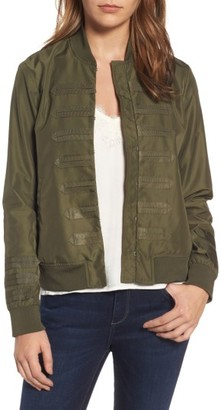 Women's Chelsea28 Military Bomber Jacket $129 thestylecure.com