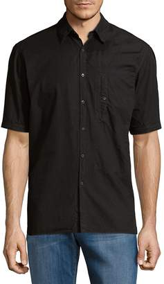 Dries Van Noten Men's Short-Sleeve Cotton Button-Down Shirt