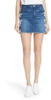 Celine 3x1 NYC Distressed Denim Skirt