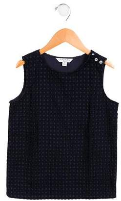 Brooks Brothers Girls' Sleeveless Eyelet Top