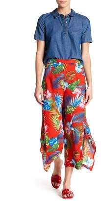 Romeo & Juliet Couture Side Split Palm Print Pants