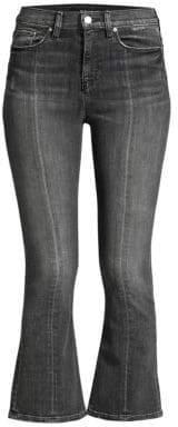 Holly Crop Flare Slit-Back Jeans