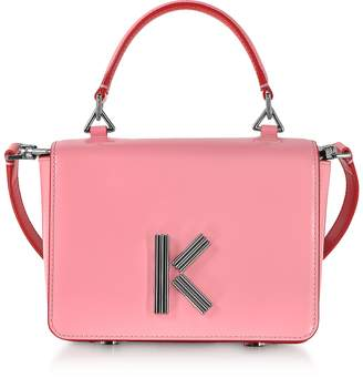 577e8099085c Kenzo Medium Faded Pink Leather Crossbody K-Bag