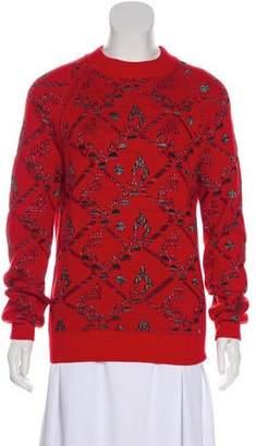 Saint Laurent Wool-Blend Patterned Sweater w/ Tags