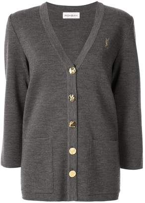 Saint Laurent Pre-Owned button-embellished cardigan