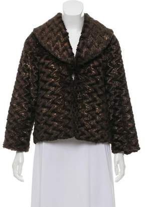 Alice + Olivia Metallic Faux Fur Coat