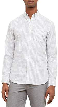 Kenneth Cole New York Men's Long Sleeve Diamond Print Shirt