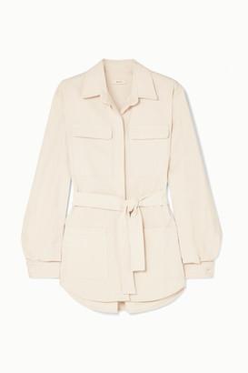 Matin MATIN - Belted Cotton-canvas Jacket - White