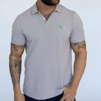 Blade + Blue Light Grey Cotton Pique Polo