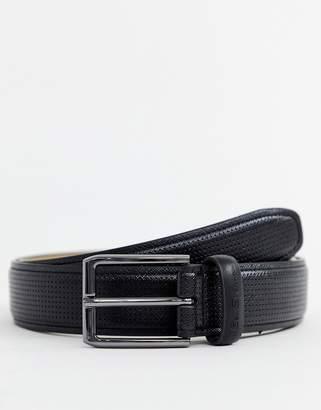 Ben Sherman textured belt in black