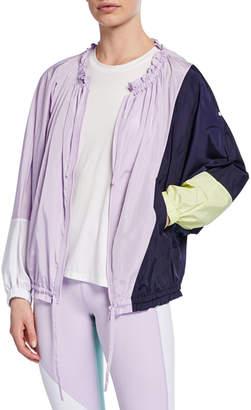Kate Spade color splice zip-front wind jacket