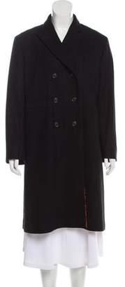 Dries Van Noten Wool Knee-Length Coat