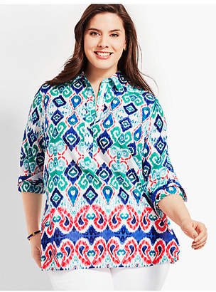 Talbots Womans Exclusive Paisley Ikat Popover