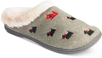 Charter Club Faux-Fur Scottie Dog Slippers