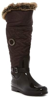 Santana Canada Clarissa 2 Nylon & Faux Fur Trimmed Waterproof Rain Boot