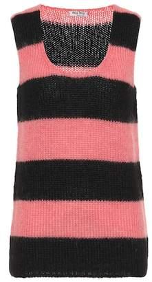 Miu Miu Mohair-blend sweater vest