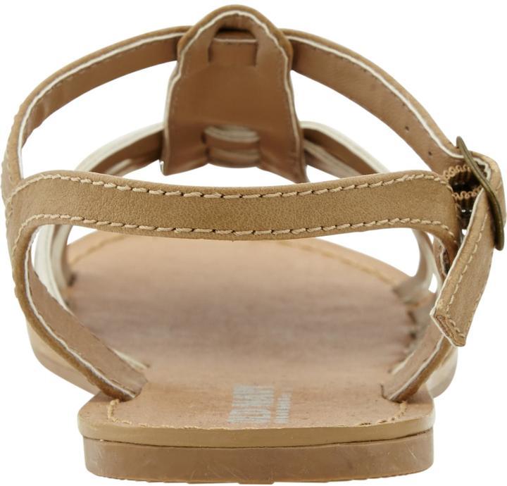 Old Navy Girls Metallic Cross-Front Sandals