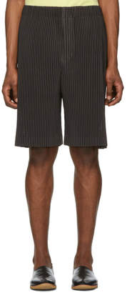 Issey Miyake Homme Plisse Brown Outer Mesh Shorts