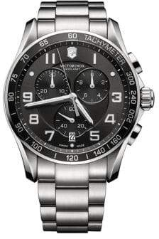 Victorinox Mens Classic XLS Stainless Steel Chronograph Watch