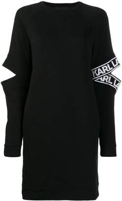 Karl Lagerfeld Paris cut-out sleeve dress