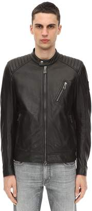 Belstaff V RACER TUMBLED LEATHER JACKET