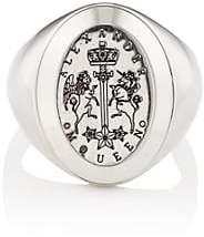Alexander McQueen Men's Signet Ring-Silver