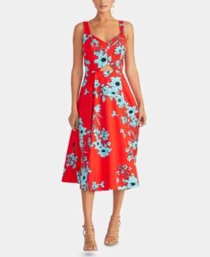 Rachel Roy Floral-Print Cutout Fit & Flare Dress