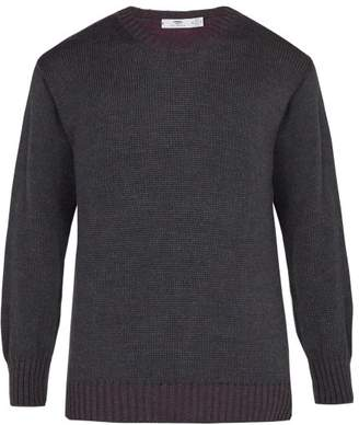Blend of America Inis Meáin - Alpaca And Silk Crew Neck Sweater - Mens - Blue