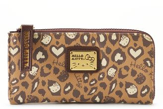 Hello Kitty® Leopard Checkbook Wallet $29 thestylecure.com
