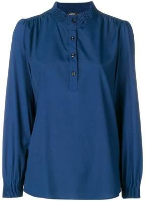 A.P.C. button front blouse