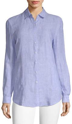 Saks Fifth Avenue Linen Button-Down Shirt