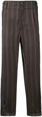 Ann Demeulemeester striped tapered trousers