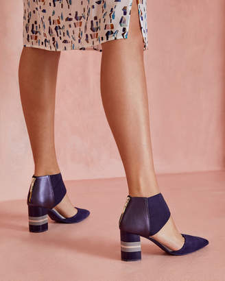 Ted Baker LARMIA Pointed suede cut-out heels