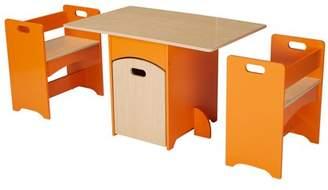 Senda Kids' Wooden Storage Table and Bench Set, 4 Piece