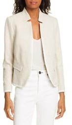 Helene Berman Inverted Notch Collar Cotton Blend Jacket