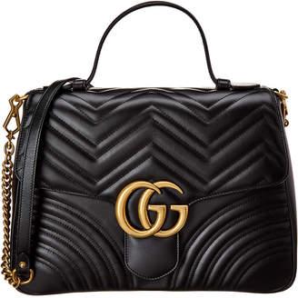 Gucci Marmont Medium Leather Shoulder Bag