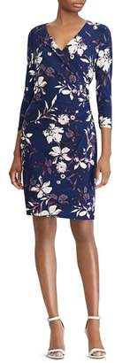Ralph Lauren Faux-Wrap Floral Jersey Dress