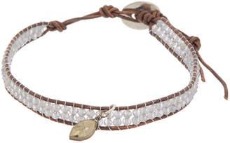 Chan Luu 18K Over Silver Smokey Quartz, Mother-Of-Pearl, & Leather Bracelet