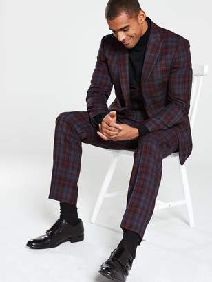Garfield Suit Jacket - Red Check