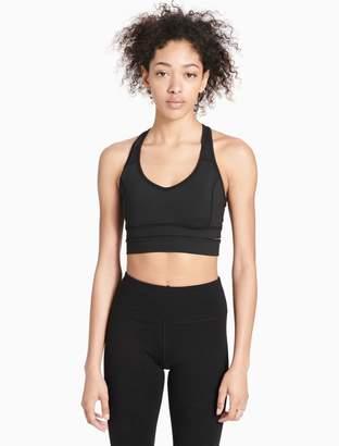 Calvin Klein v-neck longline sports bra