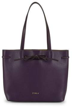 Furla Drawstring Leather Tote