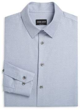 Giorgio Armani Stripe Twill Cotton Dress Shirt