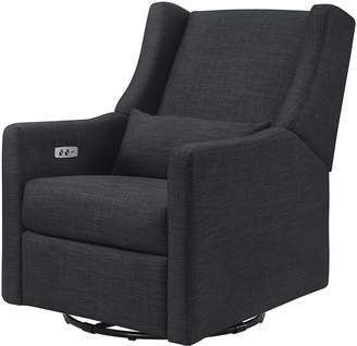Babyletto Kiwi Electronic Recliner and Swivel Glider with USB Port, Coal Grey