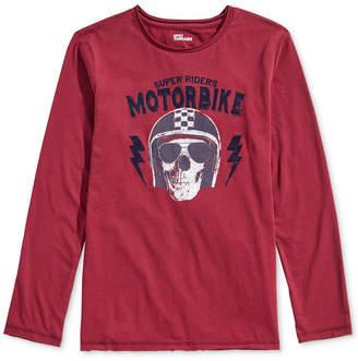 Epic Threads Big Boys Moto Skull Shirt