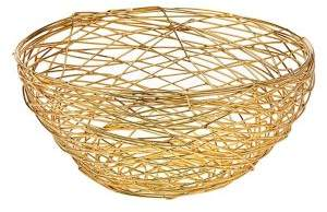 Godinger Nest Medium Stainless Steel Wire Bowl