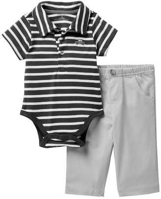 Little Me Car Stripe Polo Pant Set (Baby Boys)