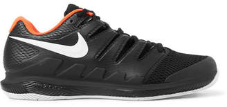 Nike Tennis - Air Zoom Vapor X Rubber And Mesh Tennis Sneakers - Black
